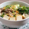 揚げ豆腐ときのこのフォー